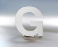 3D Buchstabe - Aluverbund - 3mm - Farbe: weiß